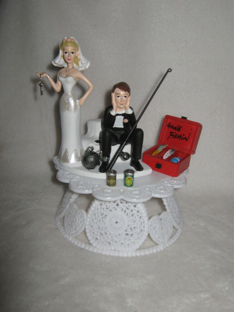 Wedding Party Ball Chain Cake Topper ~Drunk Groom~ Fishing ...