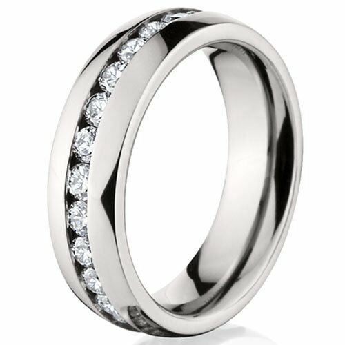 size 5 12 stainless steel ring engagement wedding crystal gemstone