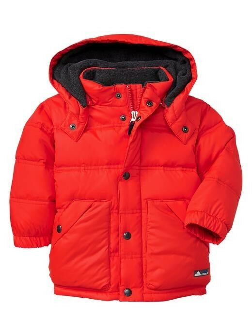 Nwt Baby Gap Hooded Warmest Puffy Plush Down Fill Jacket