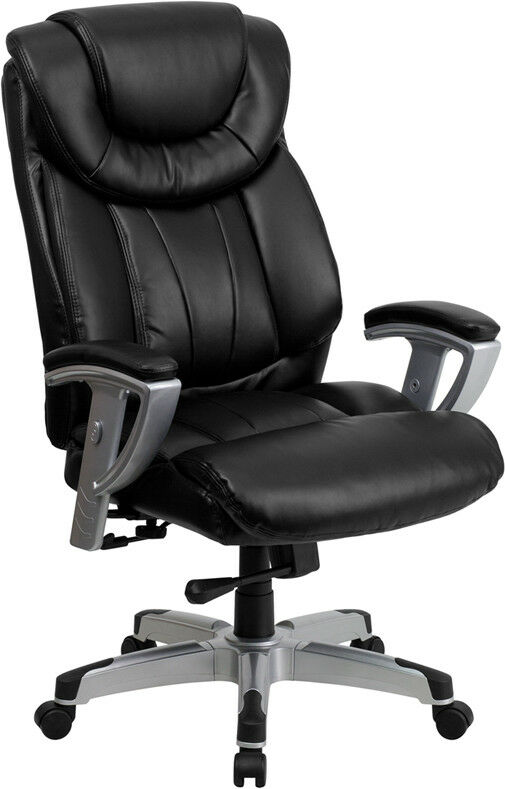 and tall 400lbs capacity black leather office chair with arms ebay
