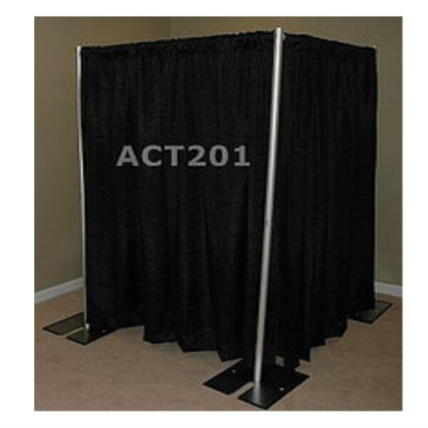 8 foot tall pipe and drape privacy room kit with commando for Pvc pipe dressing room