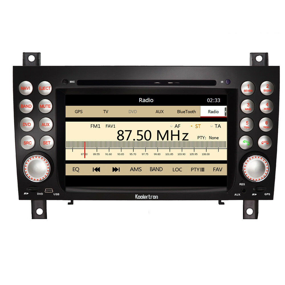 Auto dvd gps stereo radio multimedia for mercedes benz slk for Mercedes benz stereo
