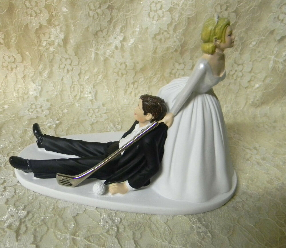 wedding cake toppers bride and groom golf wedding reception golf amp golf club golfer 26410