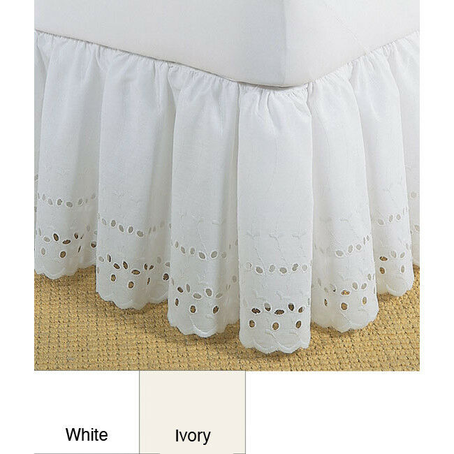 Beautiful White Or Ivory Ruffle Vintage Romantic 14 Quot Bed Skirt King Queen Full Ebay