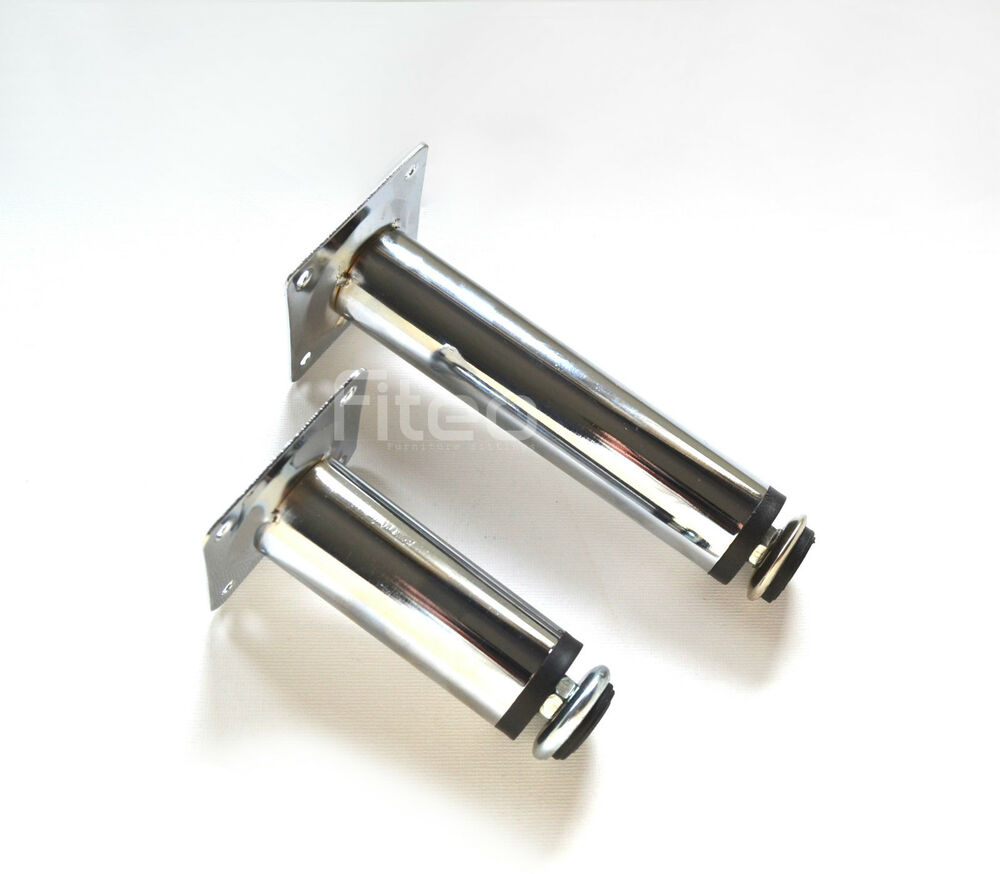 CHROME ADJUSTABLE PLINTH LEG FOR KITCHEN FURNITURE CABINETS 100mm/150mm