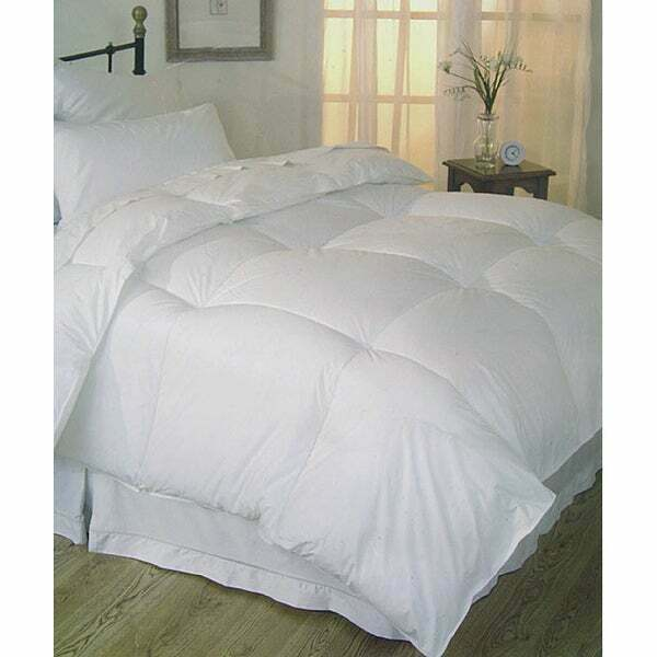 beautiful oversize soft down alternative white luxury comforter new king size ebay. Black Bedroom Furniture Sets. Home Design Ideas