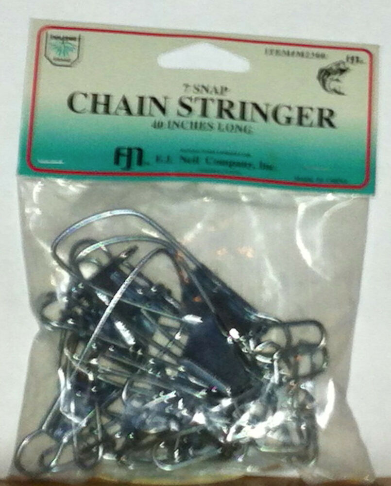 Fishing supplies f j neil chain stringer 7 snap 40 inches for Fishing supply stores