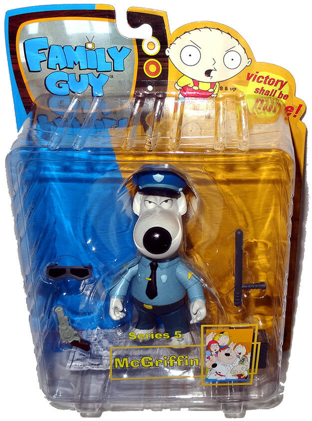 Family Guy Toys Toywiz : Family guy brian as mcgriffin dog cop action figure series