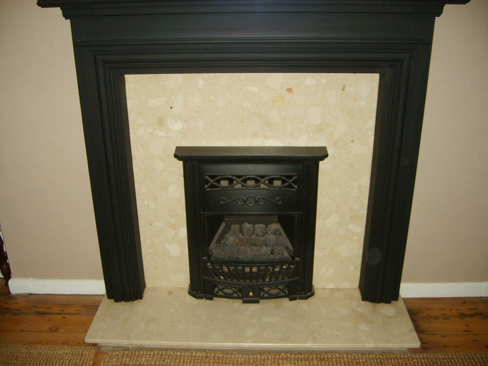 4kw wickes cast iron coal effect gas fire and marble. Black Bedroom Furniture Sets. Home Design Ideas