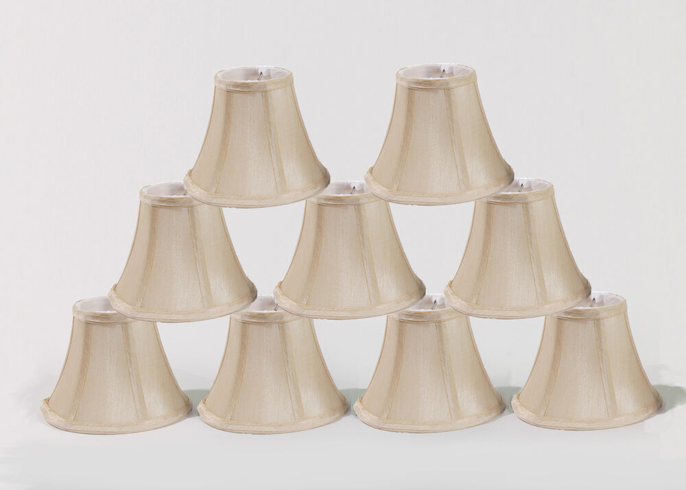 chandelier mini lamp shades set of 9 soft bell 3 x6 x5 c. Black Bedroom Furniture Sets. Home Design Ideas
