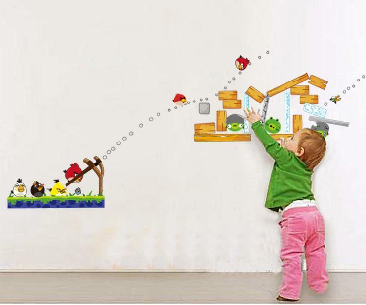 angry birds wall stickers mural art decal wallpaper decor