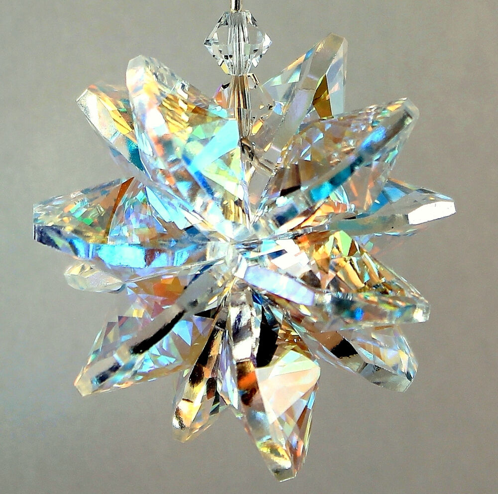 Large aurora borealis star burst sun catcher m w all for Crystal fall