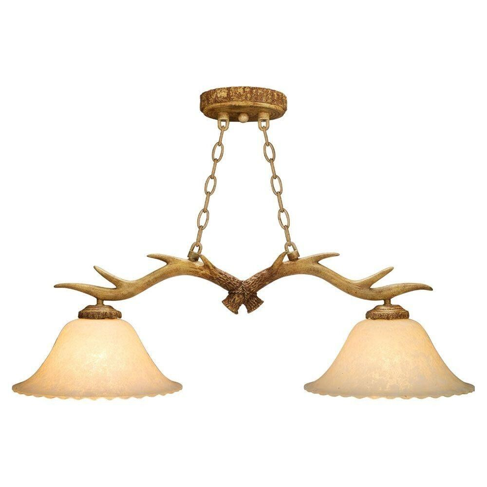 Antler 2 Light Lodge Pendant Island Yosemite Light