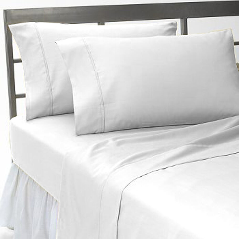 white solid 1000tc 100 cotton fitted sheet sets scala all size deep pocket ebay. Black Bedroom Furniture Sets. Home Design Ideas