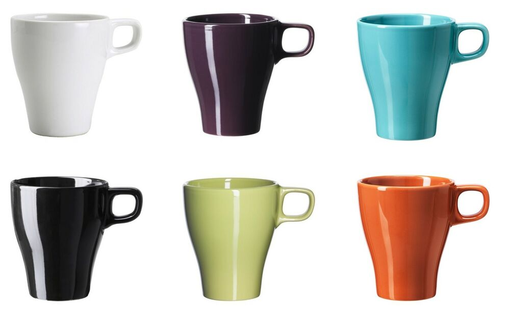 ikea f rgrik mug coffee cup mug coffee cup various colours ebay. Black Bedroom Furniture Sets. Home Design Ideas