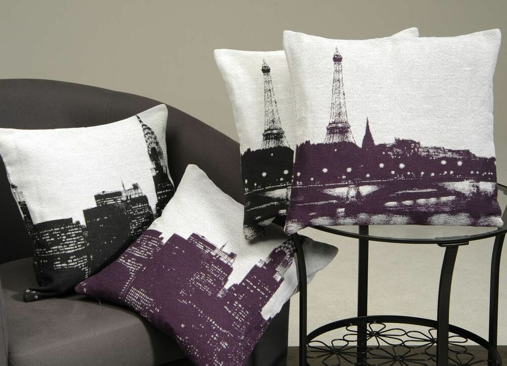 kissenh lle city new york paris kissenbezug deko kissen sofakissen 50 x 50 cm ebay. Black Bedroom Furniture Sets. Home Design Ideas