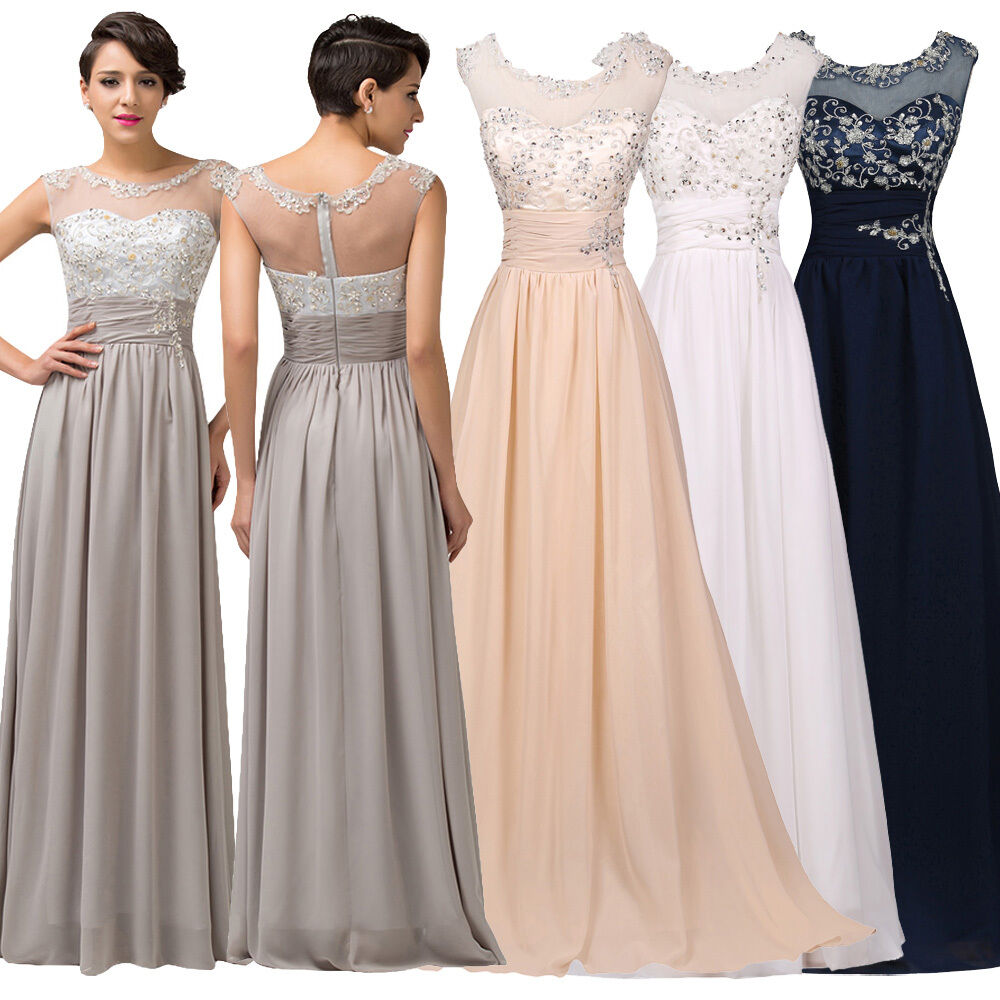 Dress wedding long bridesmaid prom party evening gown for Ebay wedding bridesmaid dresses