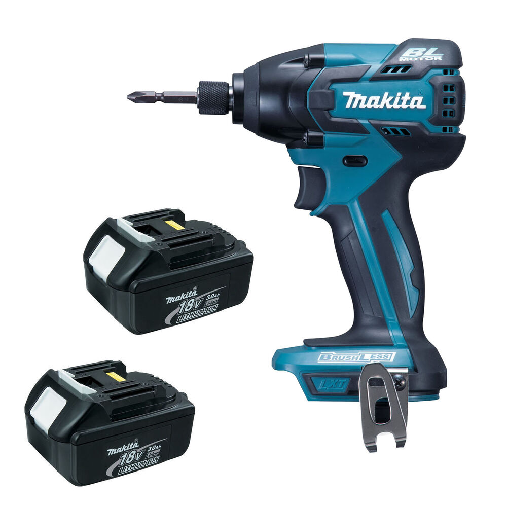 makita 18v lxt btd129 new brushless impact driver and 2 x bl1830 batteries ebay. Black Bedroom Furniture Sets. Home Design Ideas