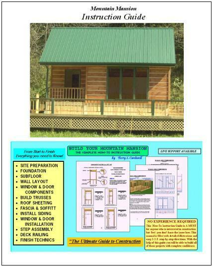 Cabin Shed Guest House Building Plans 61620 For Sale New And Used