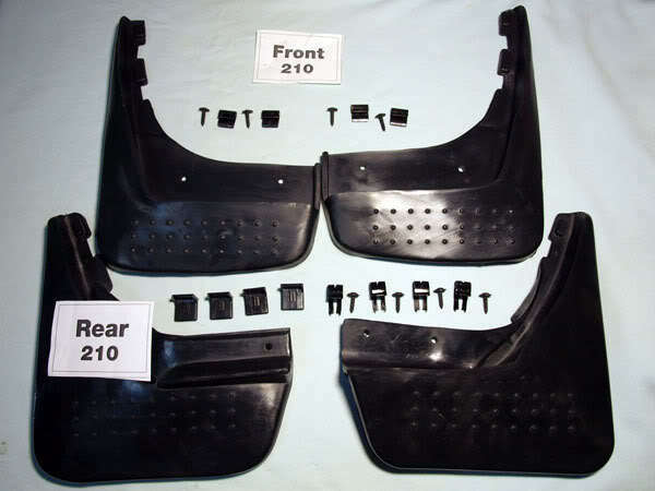 Mercedes benz w210 mud flaps splash rubber guards e230 ebay for Mercedes benz ml350 mud flaps