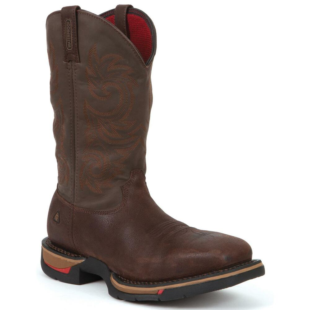 rocky long range steel toe waterproof western cowboy With cowboy safety boots