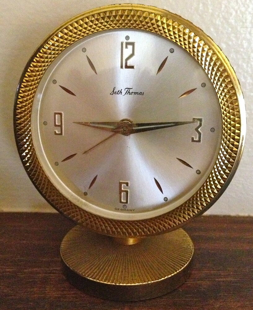 Mid Century Seth Thomas Alarm Clock Made In Germany Ebay