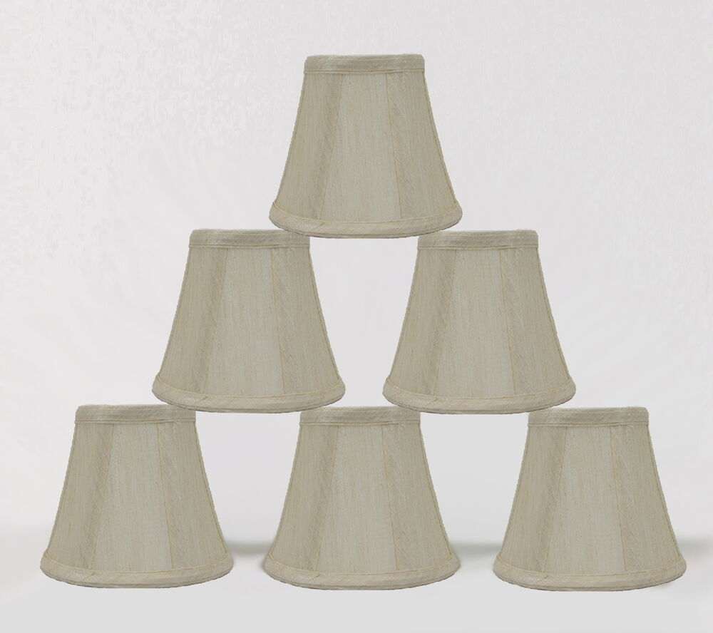 urbanest cream chandelier mini lamp shades bell softback 3. Black Bedroom Furniture Sets. Home Design Ideas