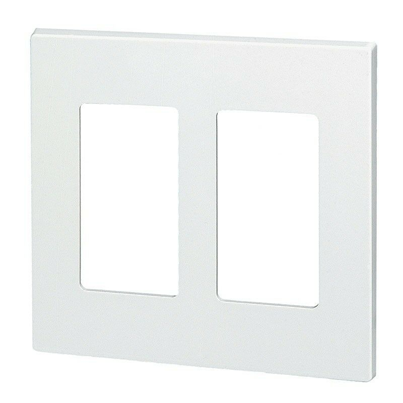 10 2 Gang Screwless Wall Plate Decorator Gfci White