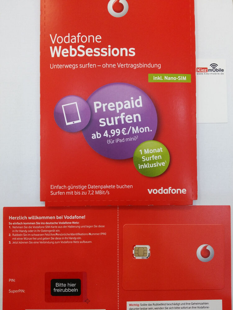 websessions vodafone d2 internet sim karte nano web session prepaid nano sim ebay. Black Bedroom Furniture Sets. Home Design Ideas