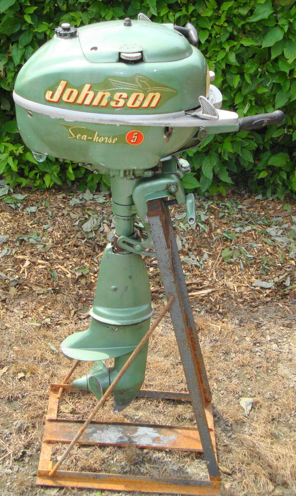 vintage johnson 5 hp seahorse outboard motor great shape