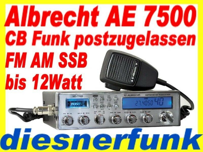 cb funk albrecht ae 7500 am fm ssb funkger t 12watt postzugelassen brandneu top ebay. Black Bedroom Furniture Sets. Home Design Ideas