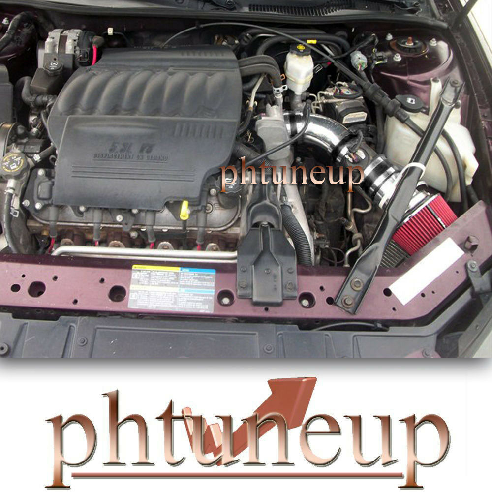 red 2006 2008 pontiac grand prix gxp 5 3 5 3l v8 air intake kit red filter ebay. Black Bedroom Furniture Sets. Home Design Ideas