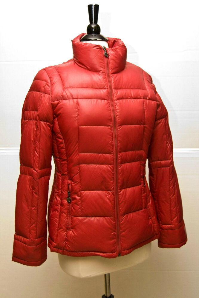 Nwt Calvin Klein Womens Packable Light Weight Red Down