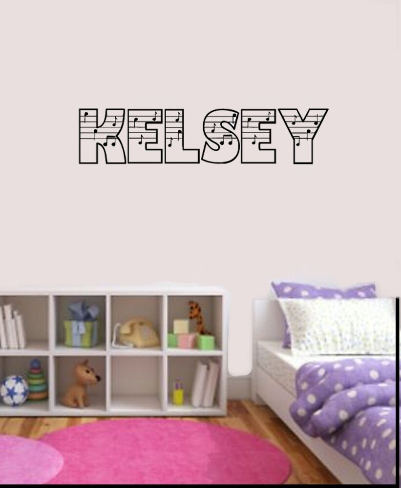 vinyl wall decals notes personalized name vinyl wall decal song 29612