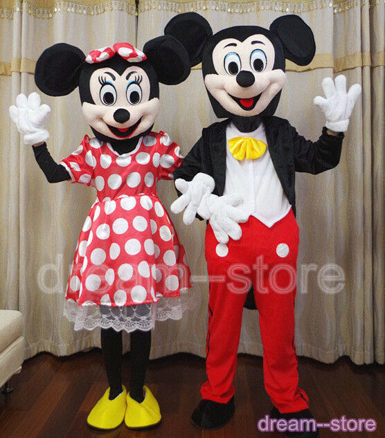 【SALE】 MICKEY and MINNIE MOUSE MASCOT COSTUME ADULT L ...