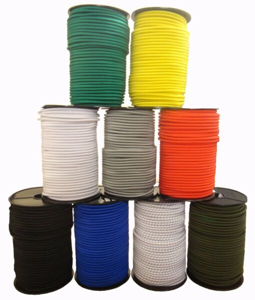 ELASTIC BUNGEE CORDS Shock Cord Rope Rubber String Elasticated Stretch Round UK