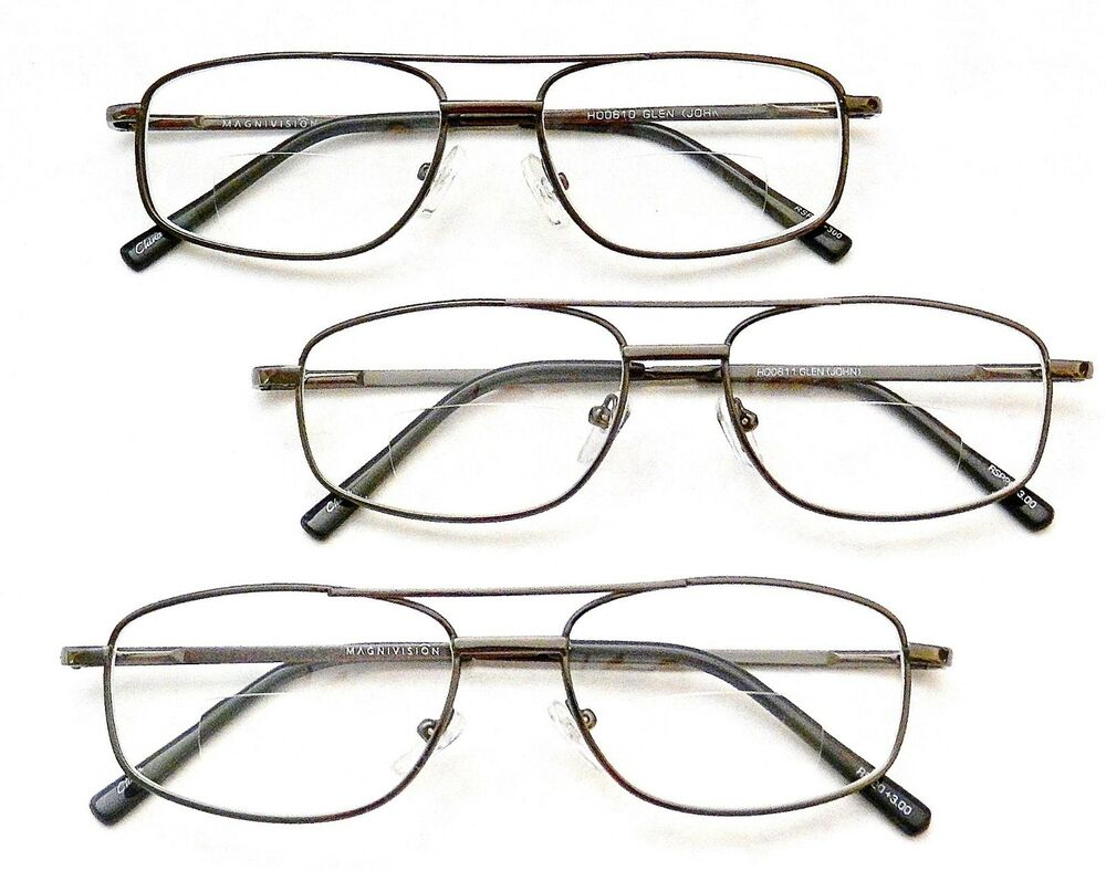 3 pack bifocal reading glasses by magnivision foster
