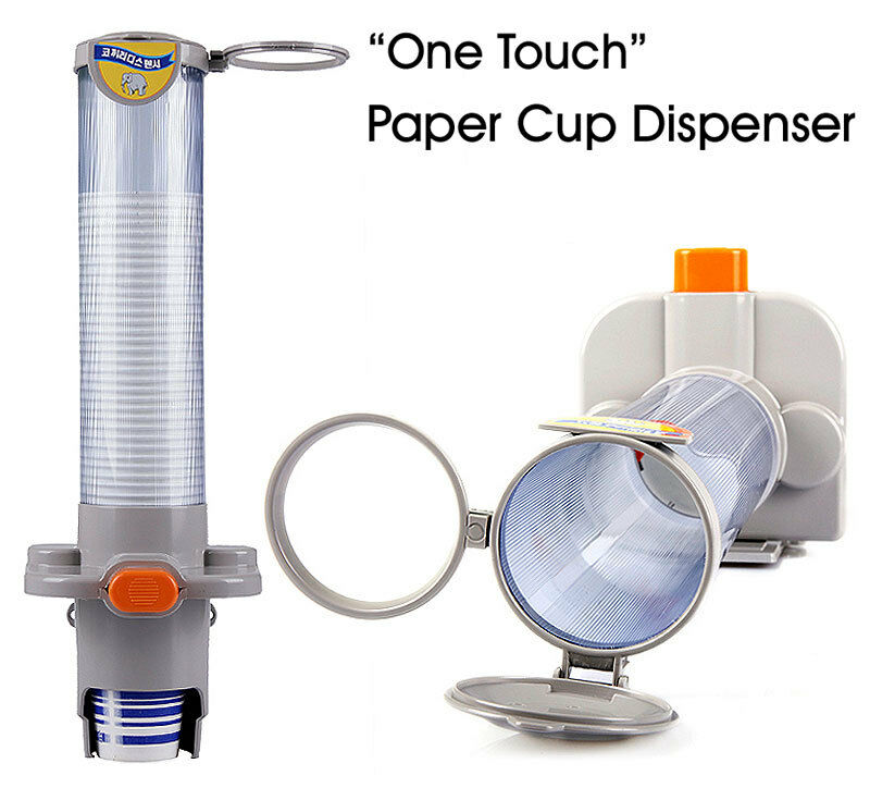 one touch paper cup dispenser magnetic attachment cup