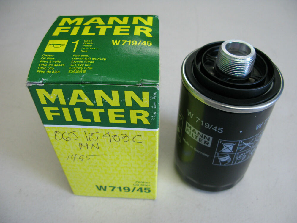 New mann w719 45 engine oil filter 06j115403c for audi for Motor oil for audi q5