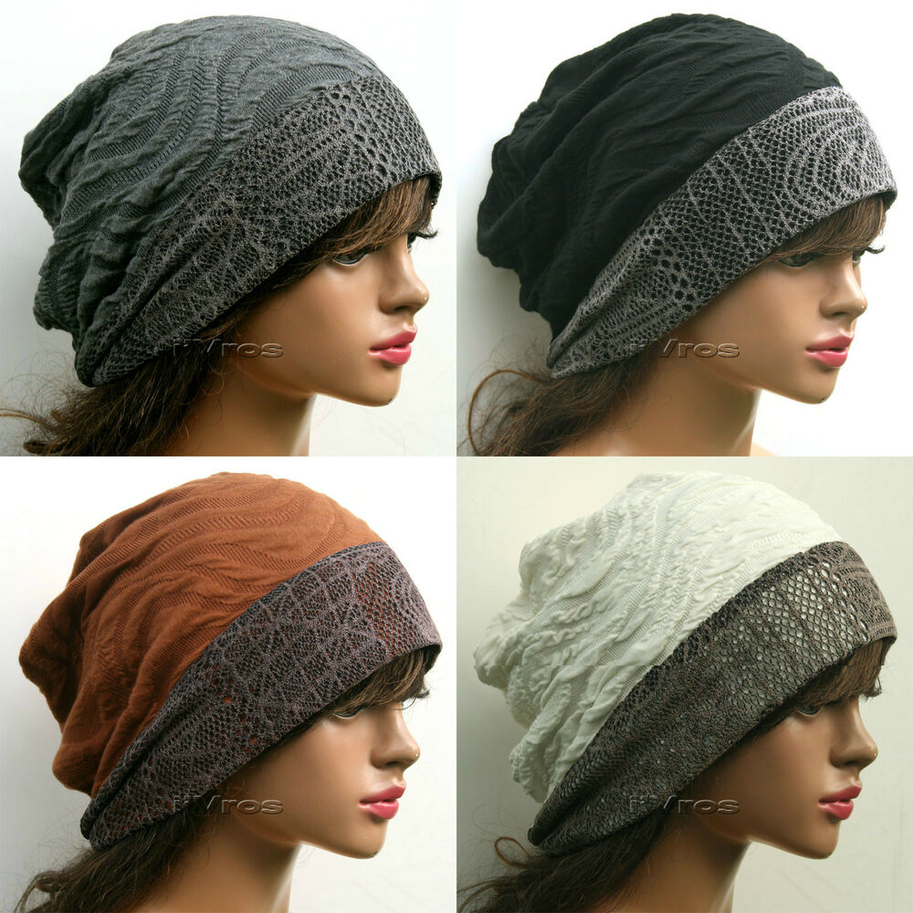stylish designer slouchy baggy beanie hat womens
