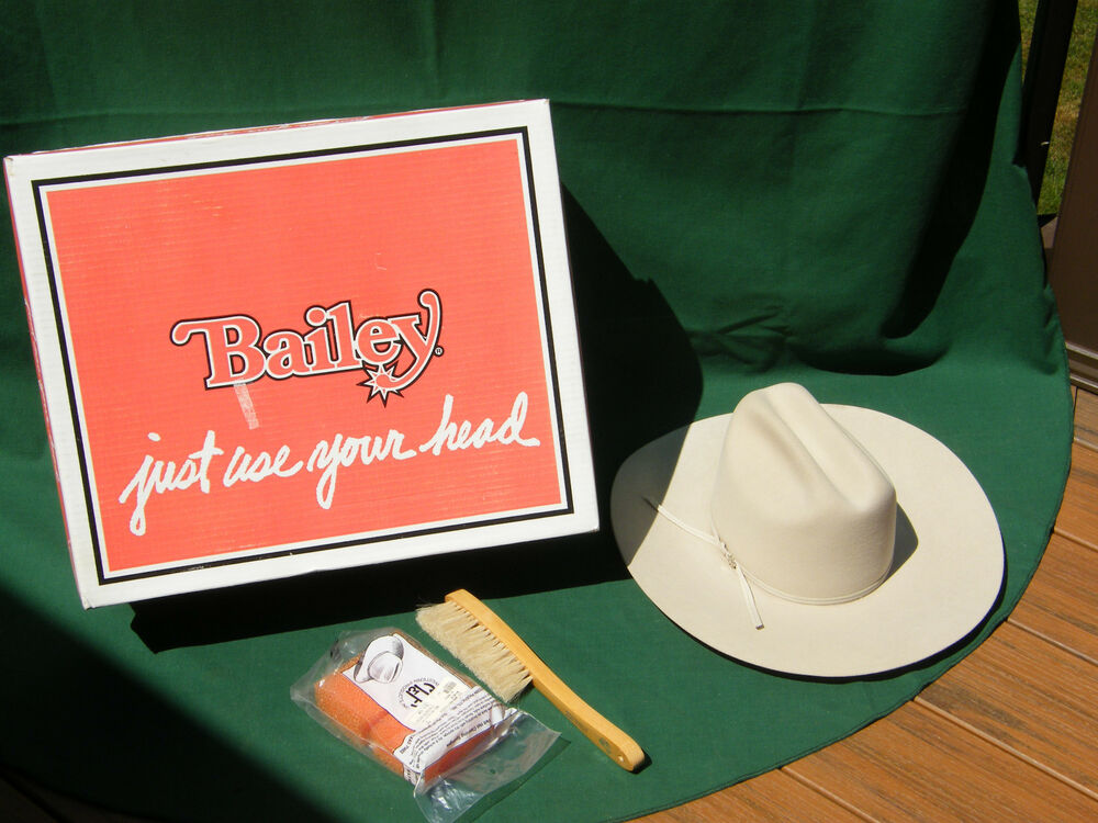 9cfd9d14c2a Details about BAILEY COWBOY HAT BEAVER XXX SIZE 7 56 USA BRUSH WESTERN GIFT  BOX BEAUTIFUL HAT