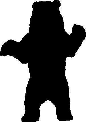 GRIZZLY BEAR STANDING ,ANIMAL SILHOUETTE CAR DECAL STICKER ...