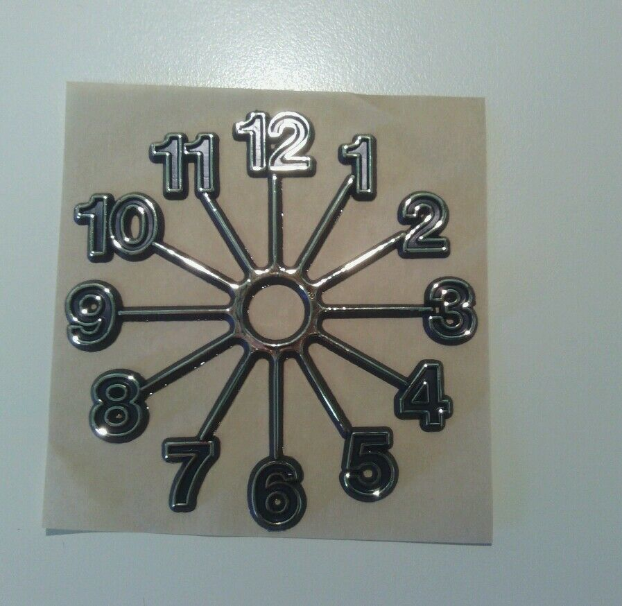Full Starburst 3 U0026quot  Clock Numbers  Gold Hot Stamped  Self