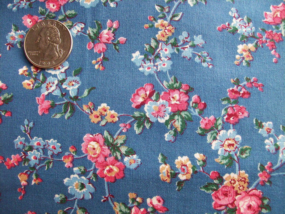 VIP Cranston Cotton Quilt Fabric Beautiful Blue Calico Sm