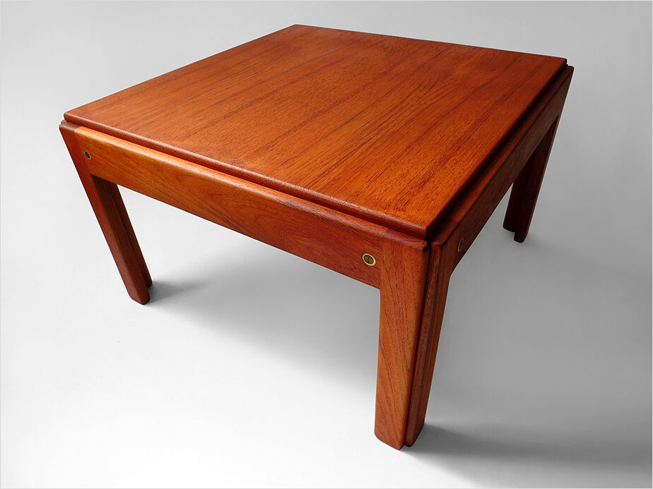1960 j andersen silkeborg danish modern solid teak wood coffee table eames era ebay Solid teak coffee table