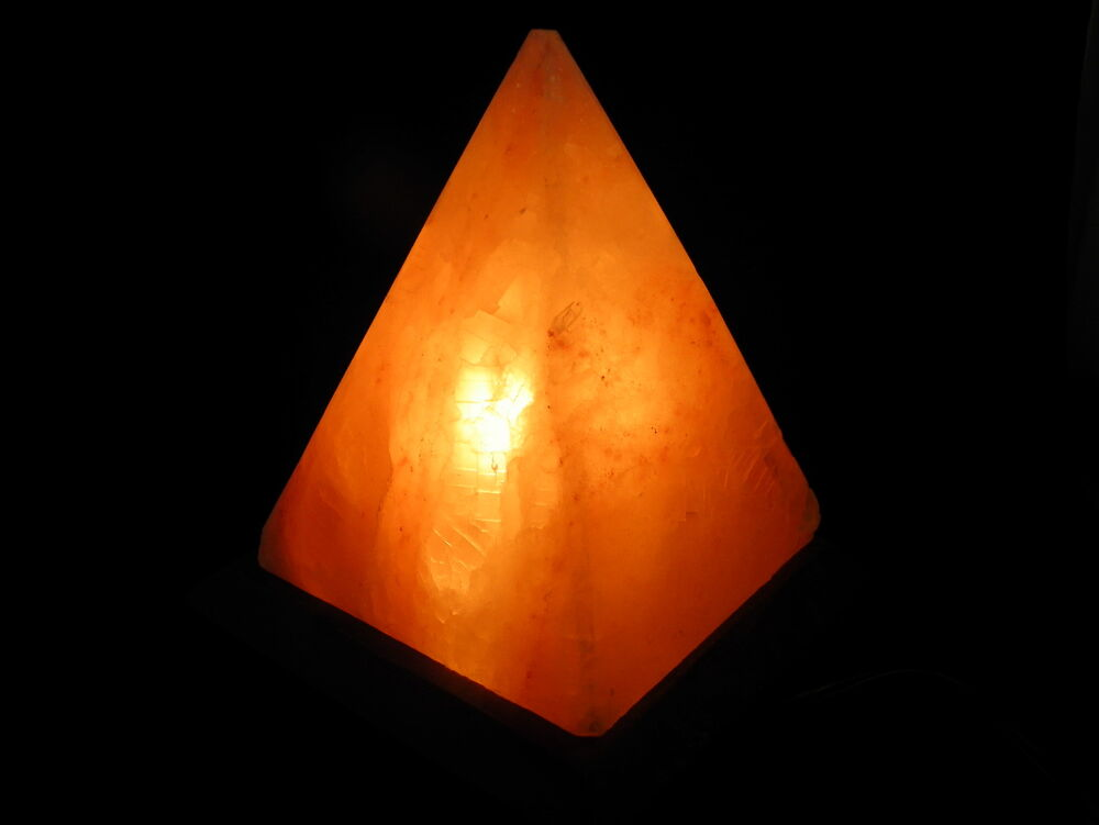 Salt Lamps Bayswater : Himalayan Rock Salt Crystal Pyramid Lamps wooden base with electric fitting eBay