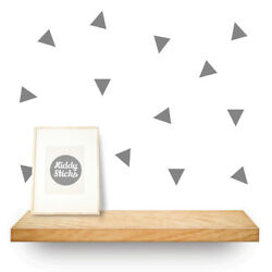 Triangle Wall Stickers 3 Sizes  & 15 colours available  UK seller FREE p&p