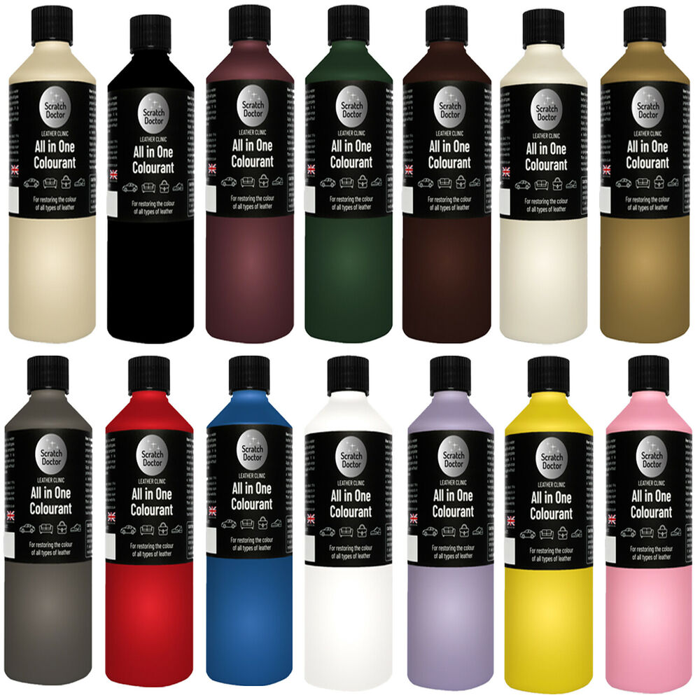 Leather Sofa Paint Kit: 500ml All In One Leather Colourant. Easy To Use. / Dye