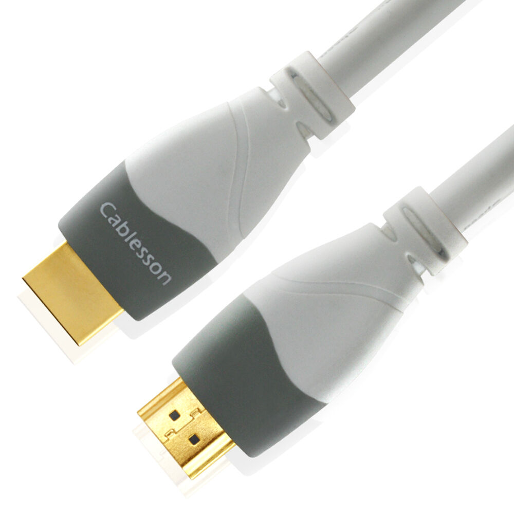 white hdmi cable mackuna highspeed uhd 1 4 2 0 4k 3d set top box game console 5m ebay. Black Bedroom Furniture Sets. Home Design Ideas
