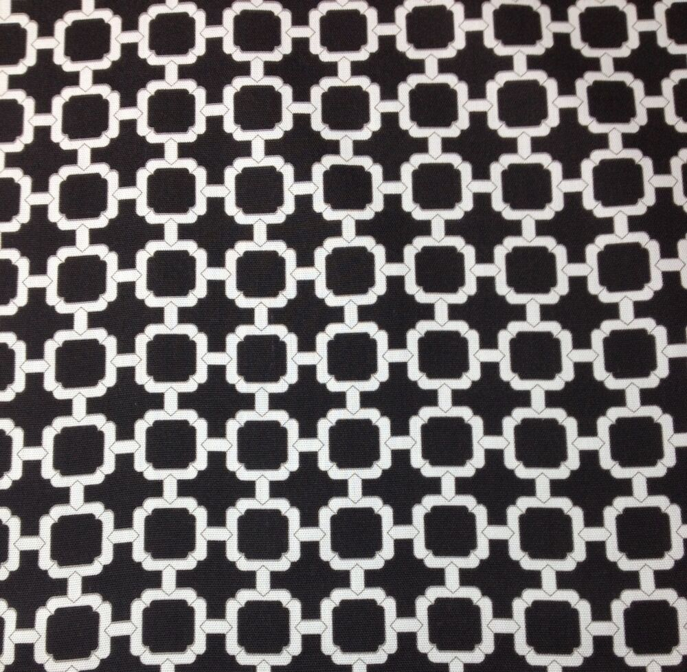 Mill creek hockley noir black lattice outdoor furniture for Outdoor fabric by the yard